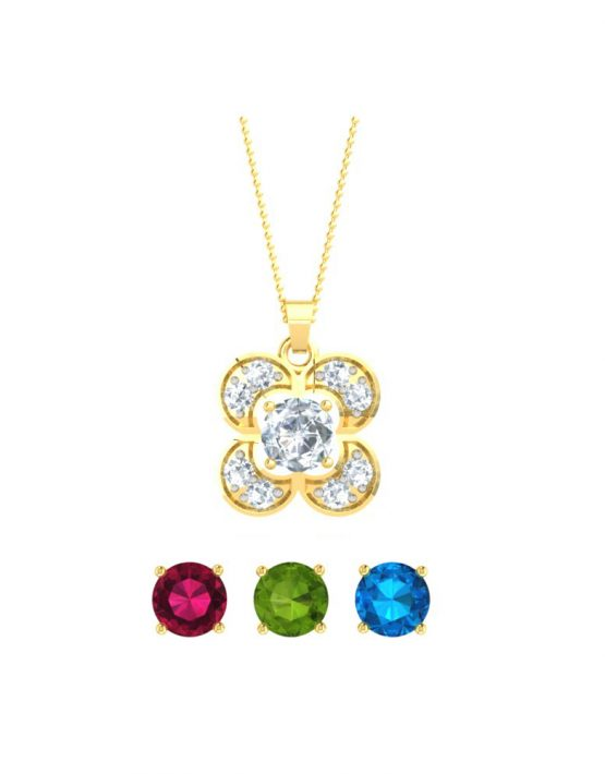 Elegant Changeable gemstone Pendant 2