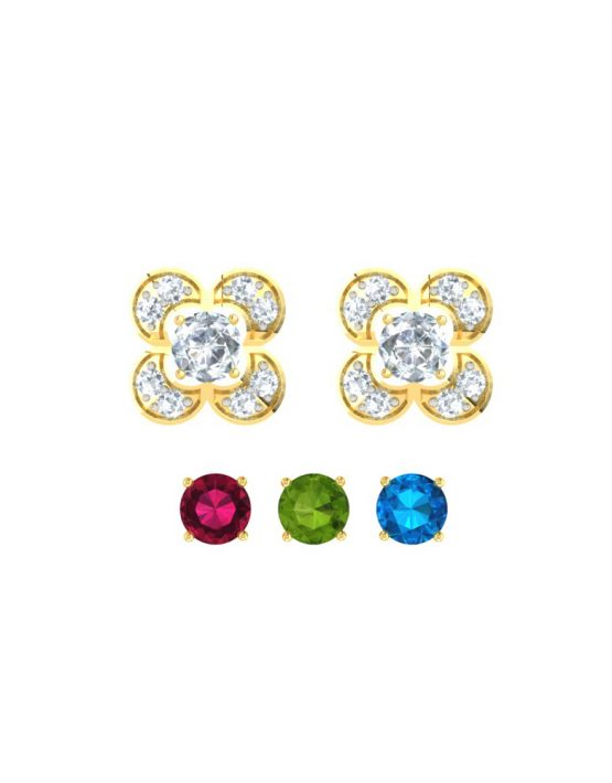 Elegant Changeable gemstone Pendant 4
