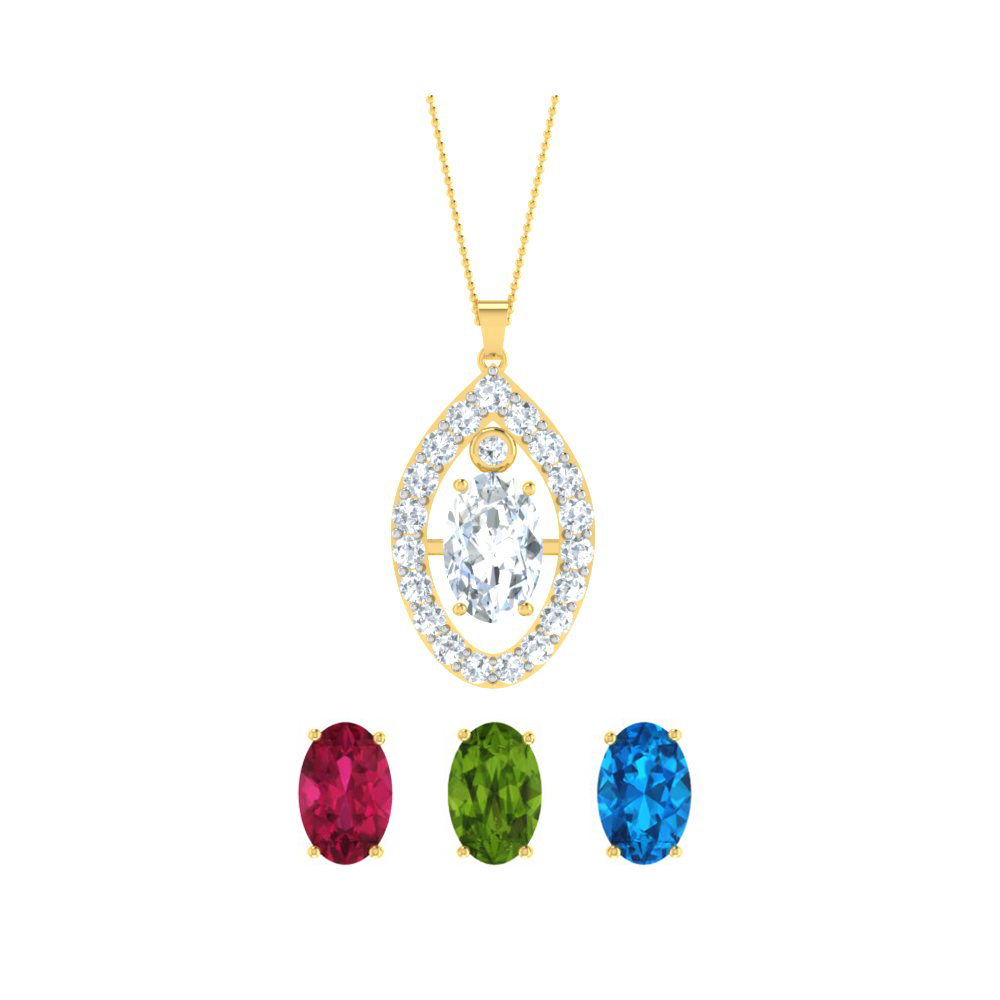 Changeable pendants with gemstones necklace with changeable stones colour gemstones earring and pendant mozeypictures Gallery