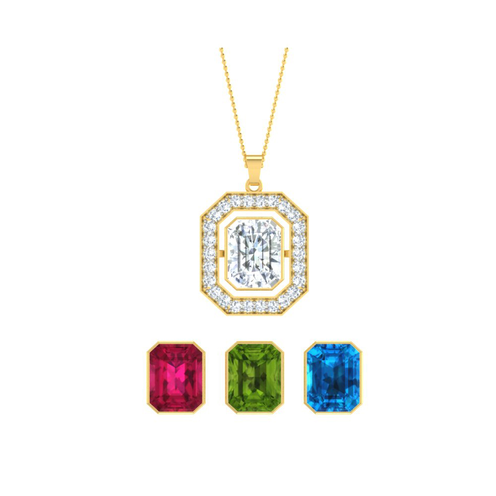 Changeable jewelry sets changeable necklace interchangeable diamond shape necklace set aloadofball Images