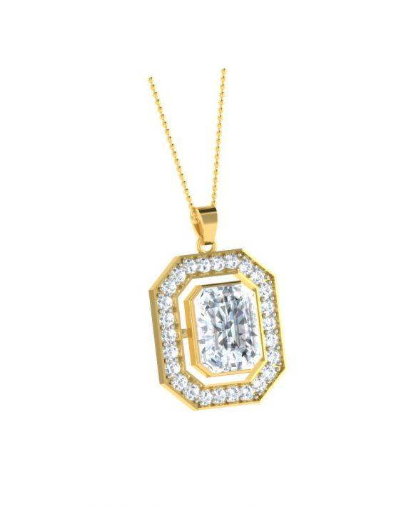 Interchangeable Diamond Shape Necklace Set