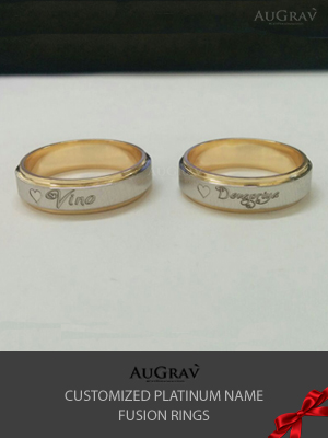 Couple Name Rings For Anniversary, Couple Love bands with engraving, Personalized name ring making process