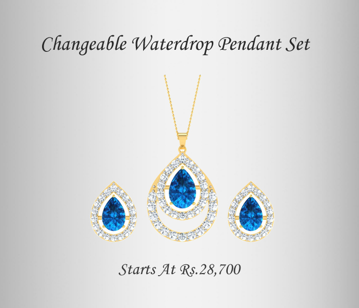 Interchangeable a Pendant Necklace Set