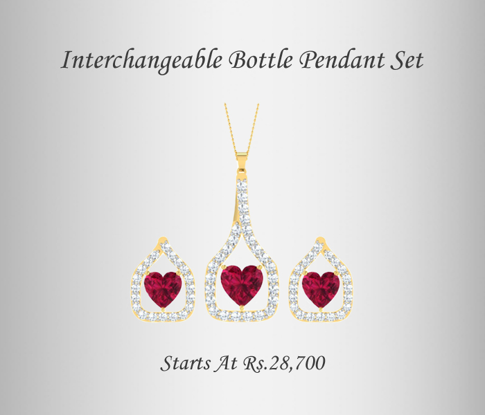 Interchangeable Love In a Bottle Pendant Set