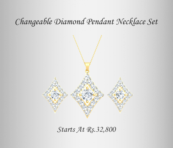 Custom Pendant Set With Interchangeable Gemstones 4