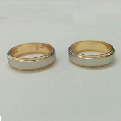 platinum and gold fusion ring, platinum fusion rings