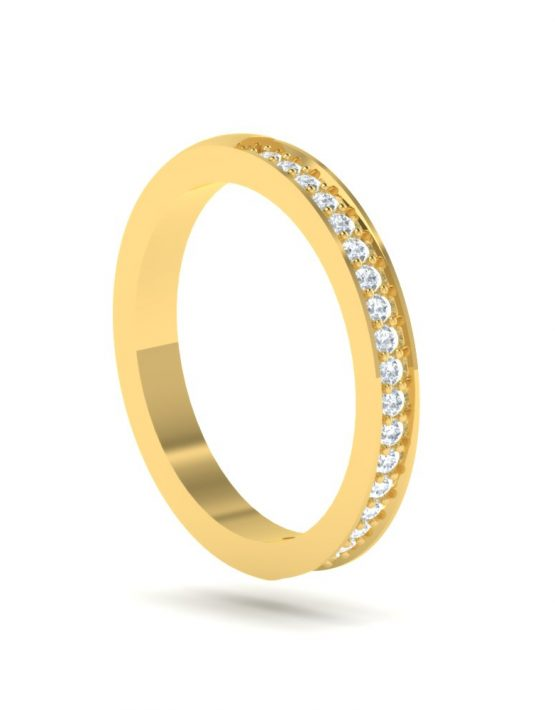 white gold promise rings, white gold stackable rings, yellow gold diamond stacking rings