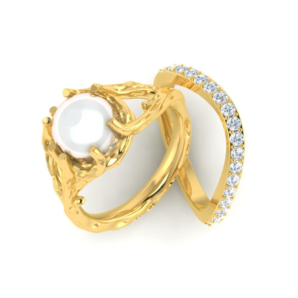 Fingerprint Platinum Ring
