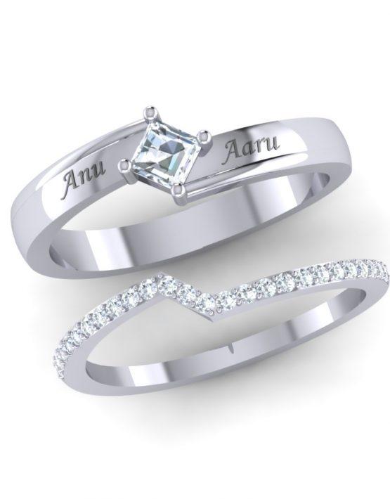 multiple rings trend pair ring in gold pair rings