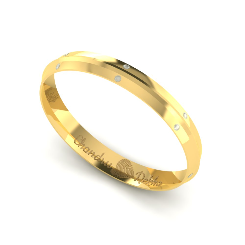 Personalized Gold Kada For Men