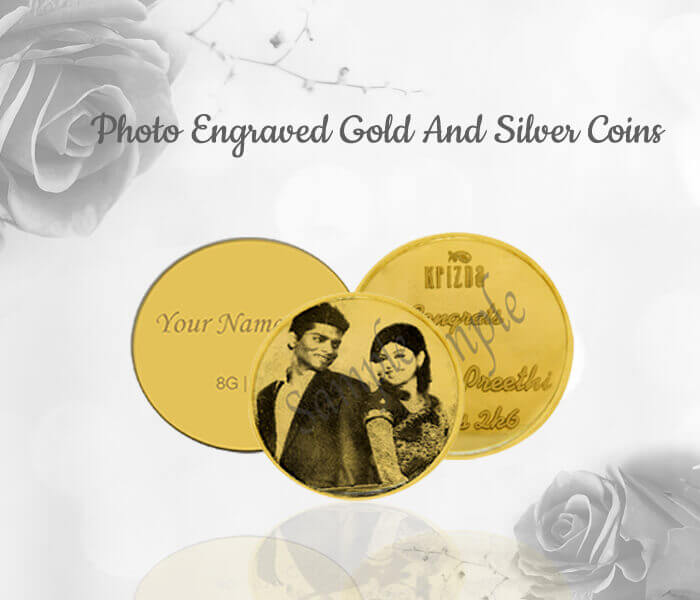 photo engraved gold coin