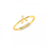 Gold Alphabet A Ring