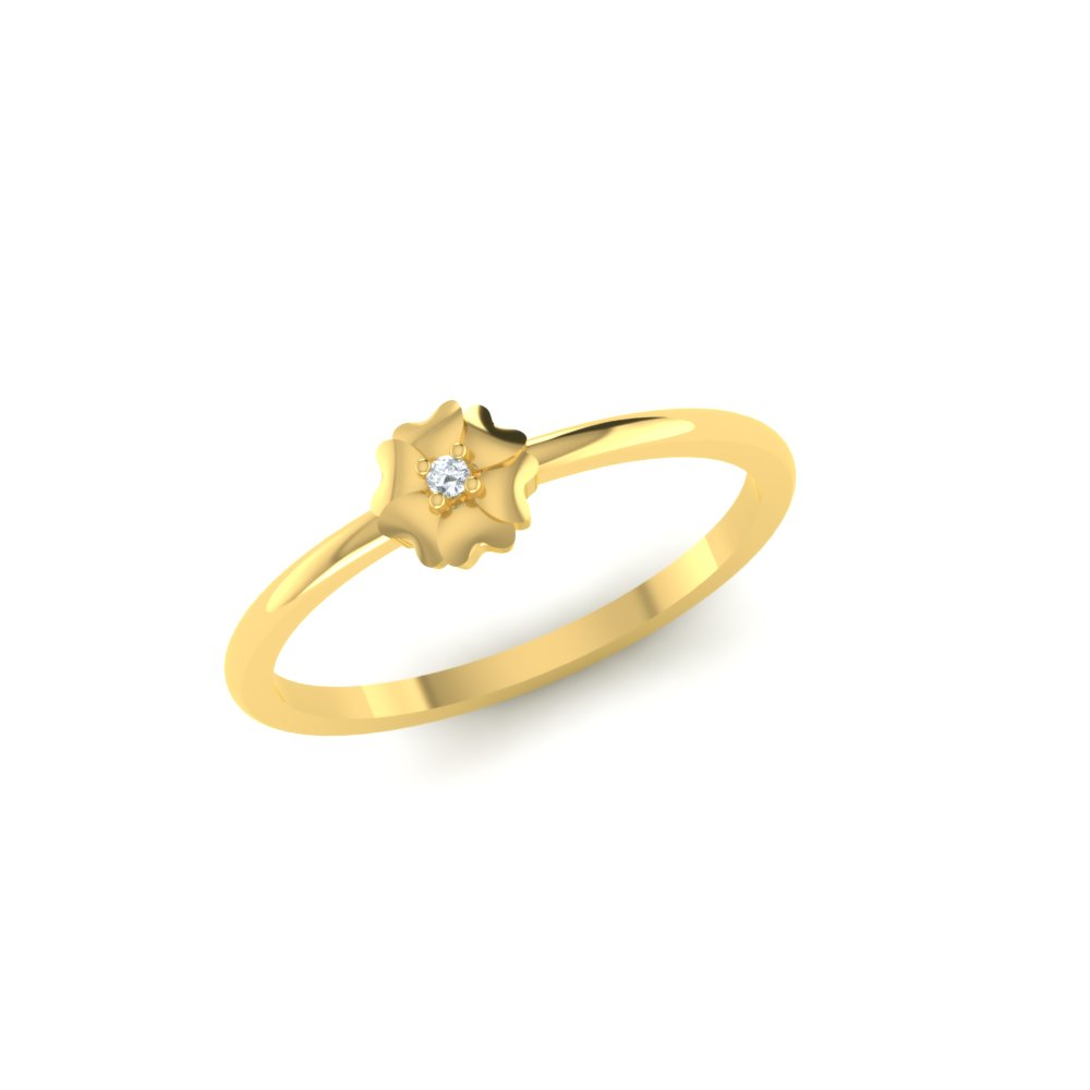Flower Shaped Gold Ring Design