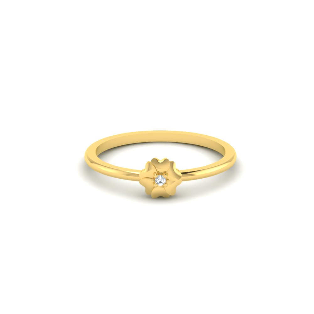 flower shaped gold ring design