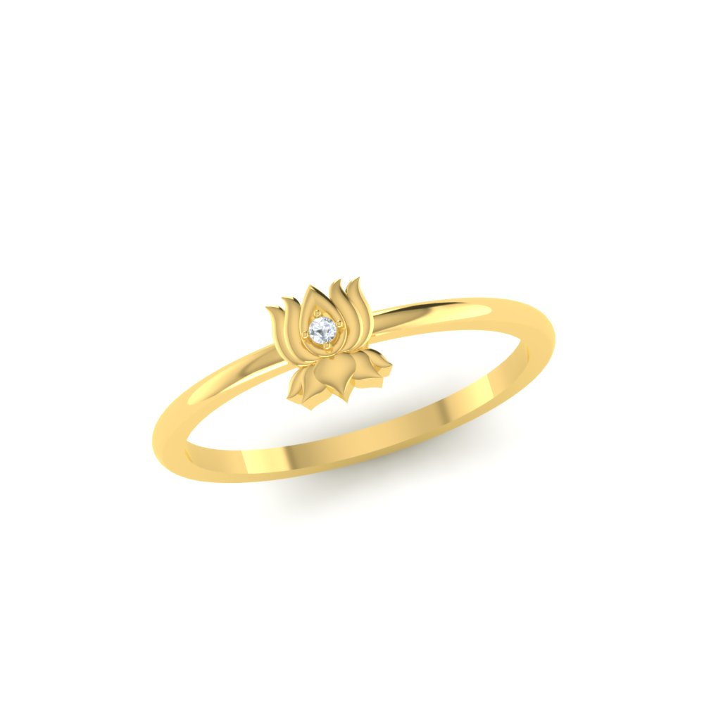 Open lotus flower gold ring izmirmasajfo