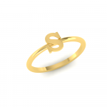 S Initial Ring 22K Gold