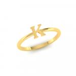K Initial Ring 22K Gold