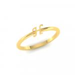 H Initial Ring 22K Gold