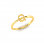 G Initial Ring 22K Gold