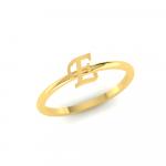 E Initial Ring 22K Gold