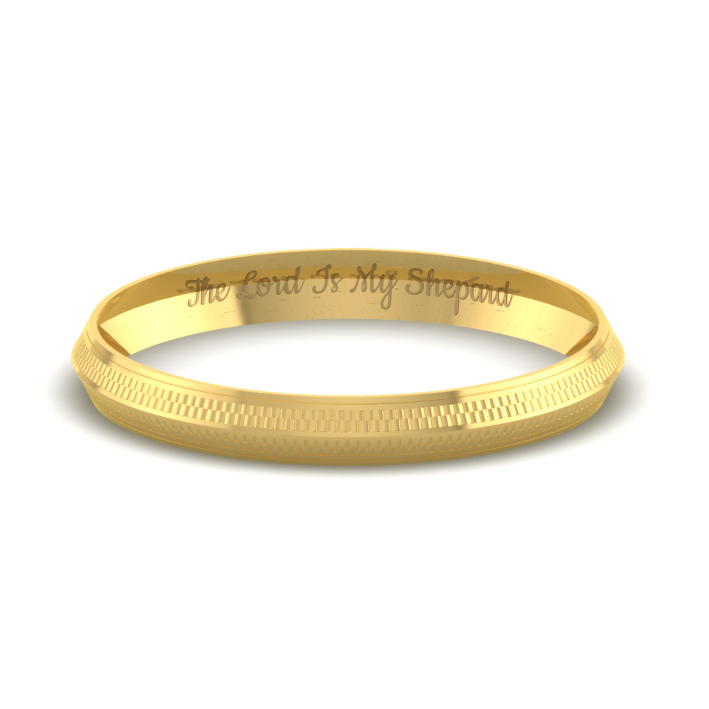 Personalized Gold Kada For Mens