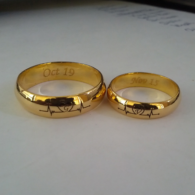 e8f19ff973016 Love Heartbeat Wedding Bands
