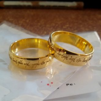 personalized engraved couples rings