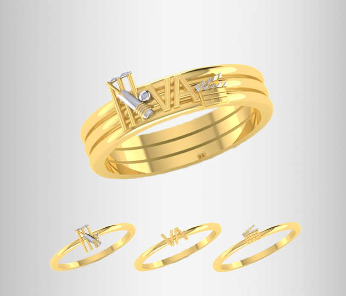 Cricket Love Story Rings