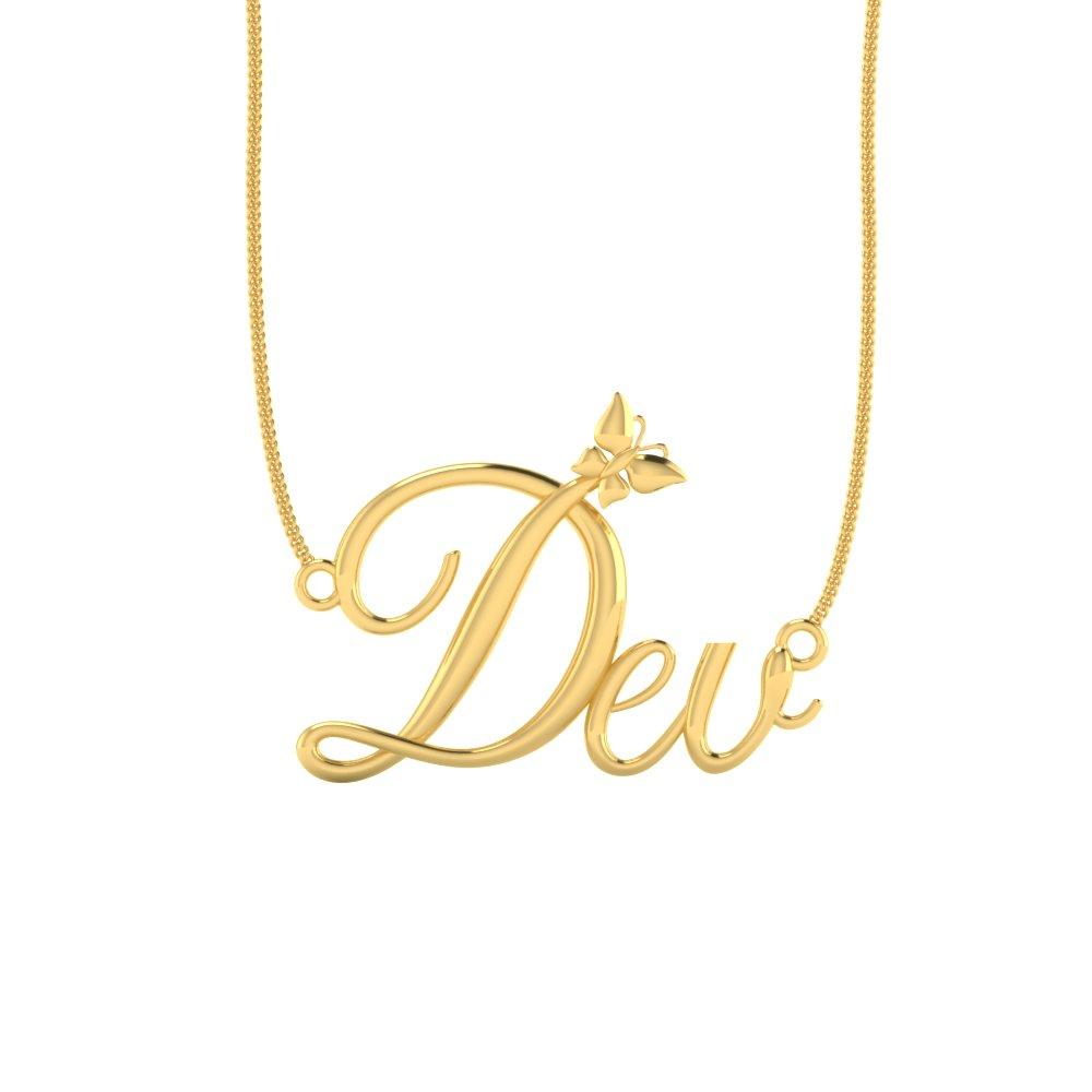 9011dcef3516c Dev Gold Name Pendant