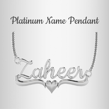 Platinum Name Pendants, Also Available in RoseGold and White Gold