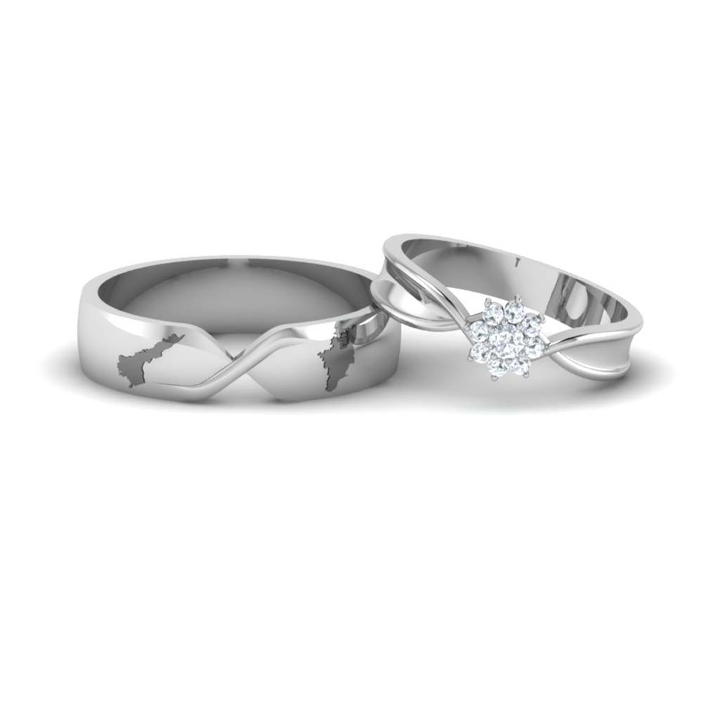 Gold And Platinum Couple Rings - His And Hers Wedding ...