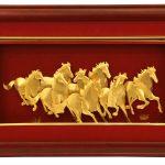 Gold Wild Horses Frame Designs