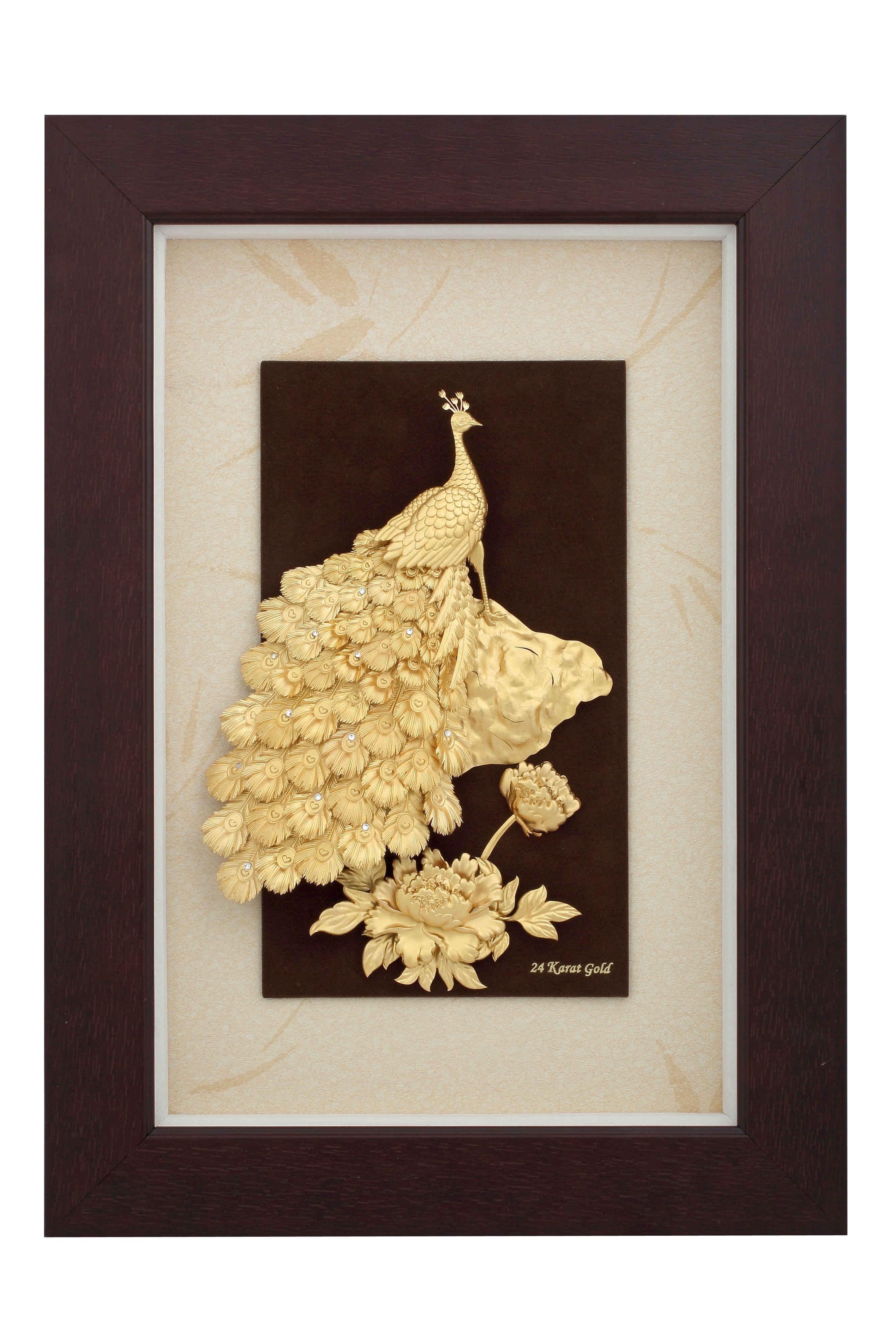 Peacock Gold Leaf Frame