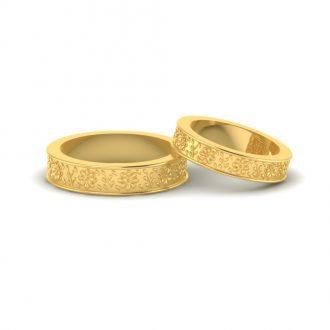 flower pattern wedding ring