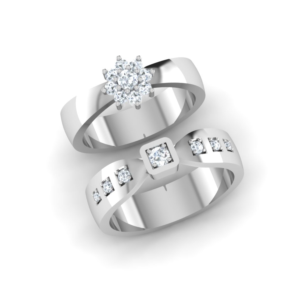 Platinum Wedding Rings.Flower Halo Platinum Engagement Ring