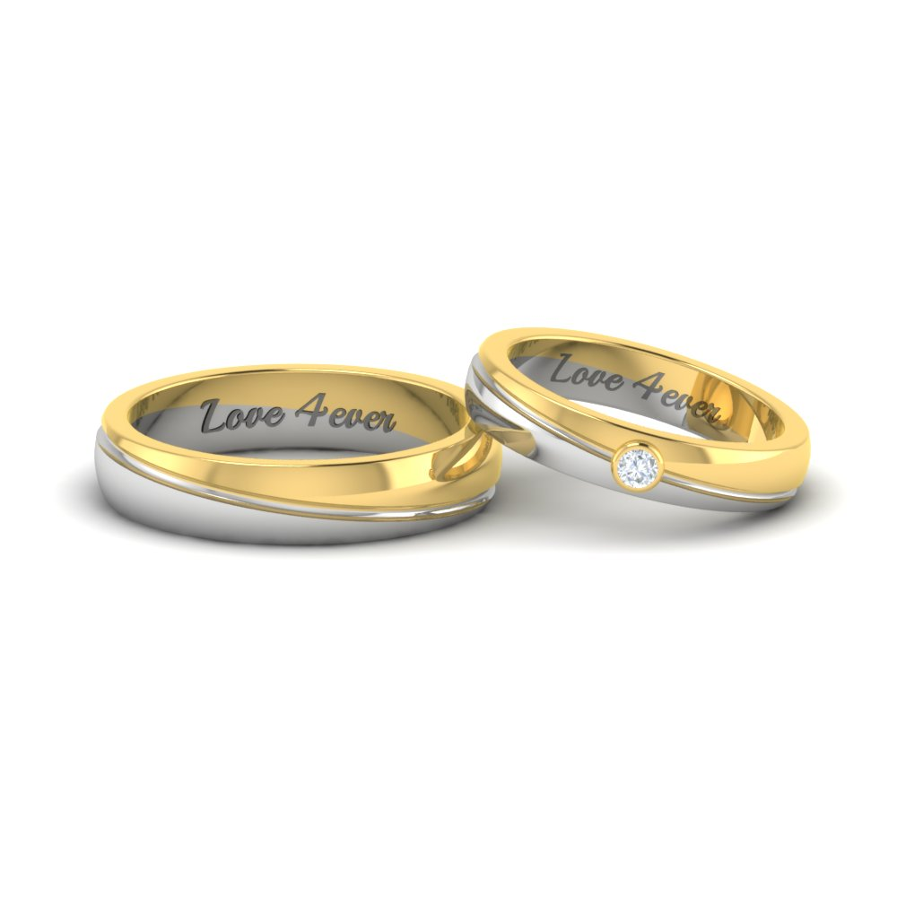 couple band rings gold | best wedding band trends |