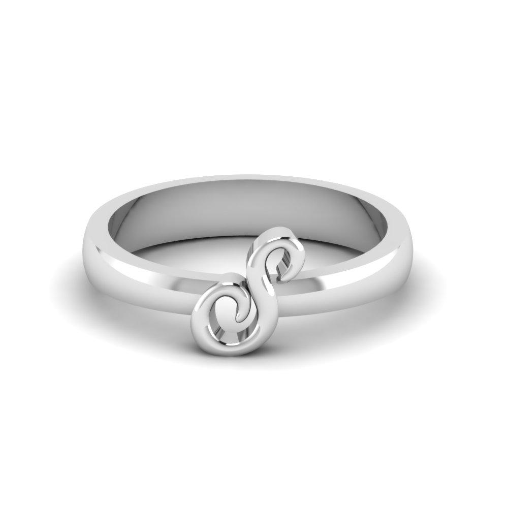 Platinum Letter Rings Name Platinum Rings
