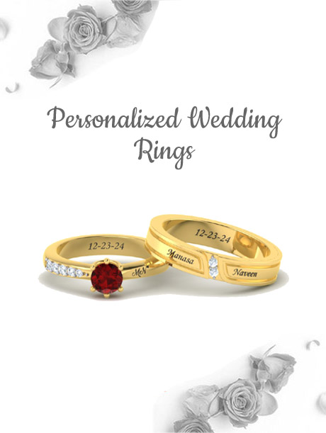 Personalized Gold Couple Rings