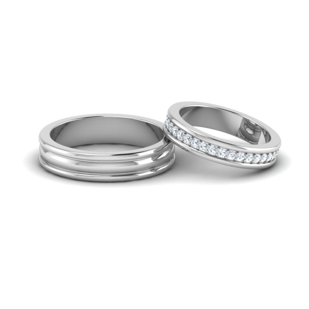 Designer Platinum Couple Rings