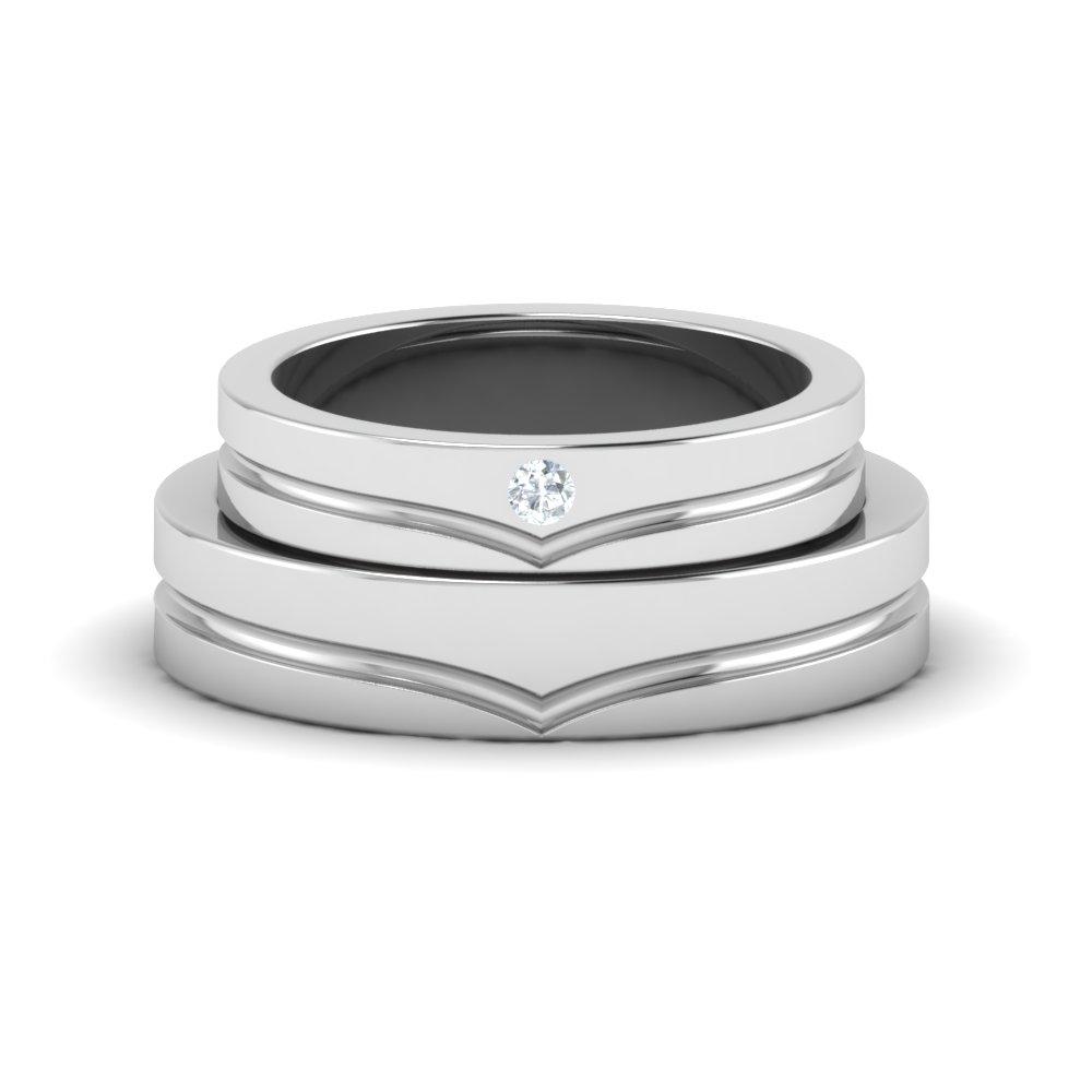 Perfect Cut Platinum Couple Rings
