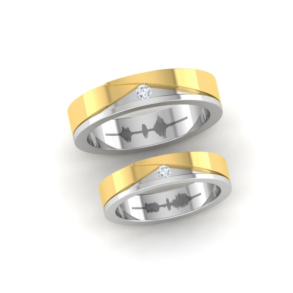 Bowtie Diamond Platinum Couple Rings