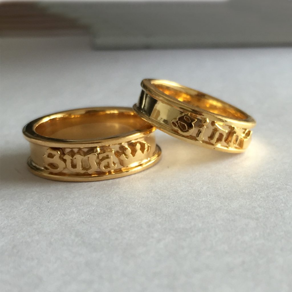 Embossed Gold Rings