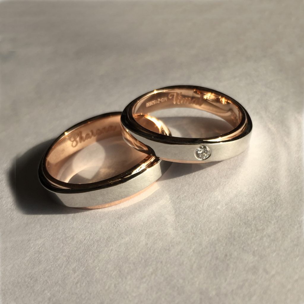 Fusion RIngs in Gold and Platinum