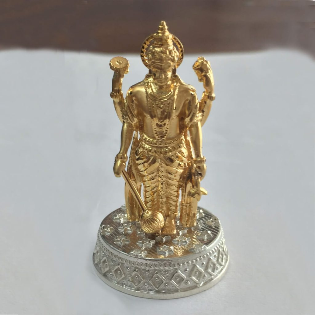 Gold Vishnu 3D Printed Idol