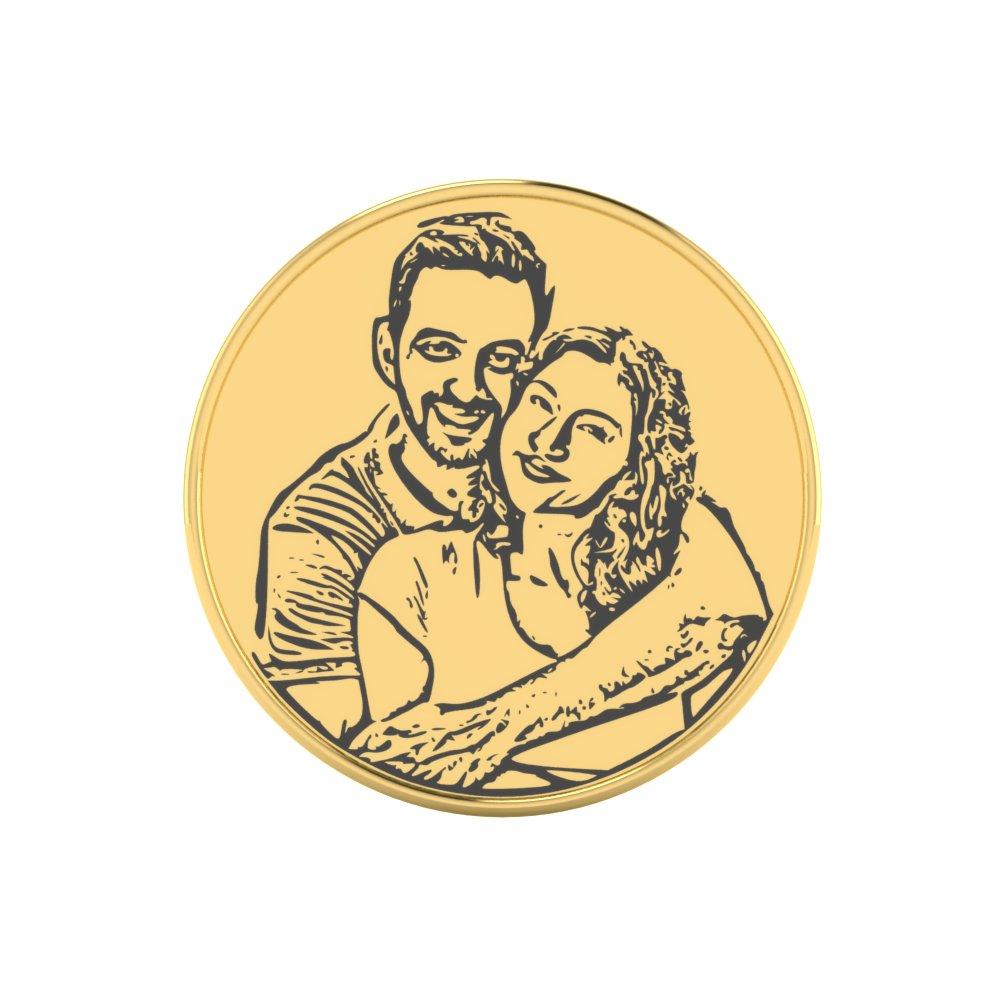 Photo Engravd Gold Coin