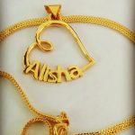 Alisha Golden Heart Pendant