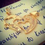 Broken Heart Gold Name Pendant
