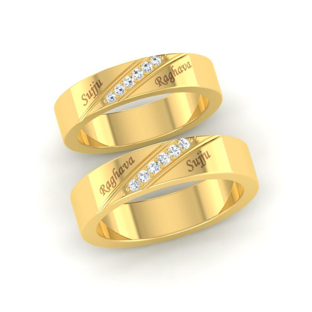 Simple Diamond Couples Ring