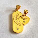 Magic Look Trendy Couple Heart Pendants