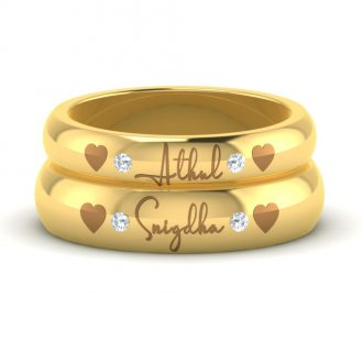 Delightful Name Engraved Couple Rings